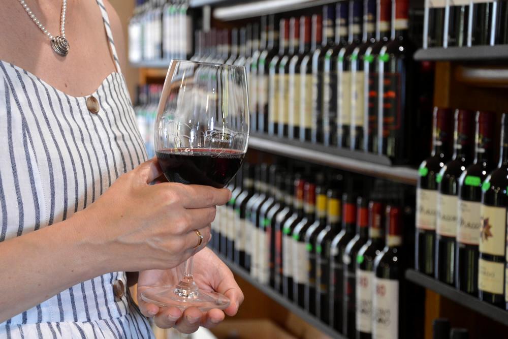 Weinhandlung in Scansano, Toskana