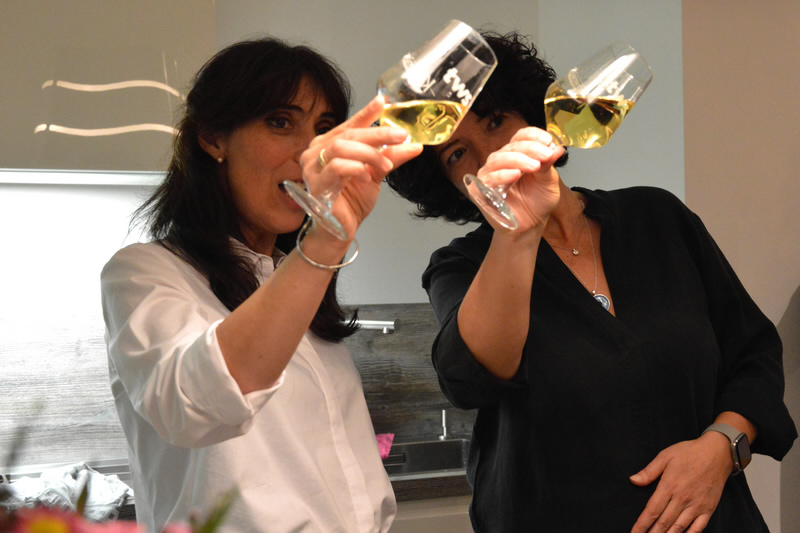 Weinverkostung Sommelier Tiziana